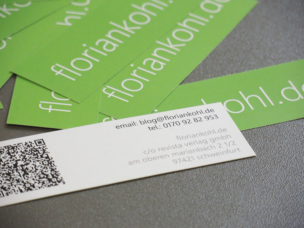 Visitenkarten mit QR Code